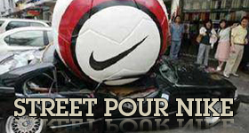 Le street marketing vu par Nike